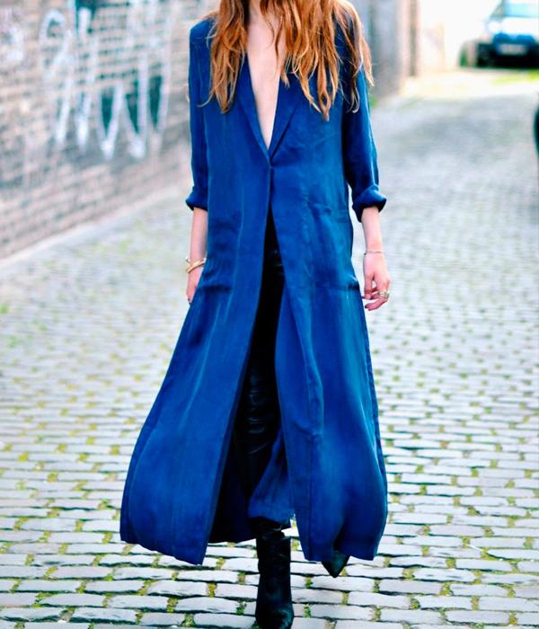 kimono azul electrico