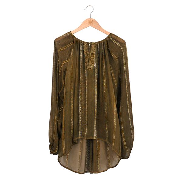 Camisa Gypsy verde de T.ba