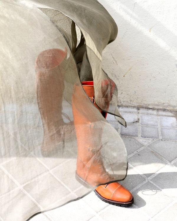 botas camel de tba