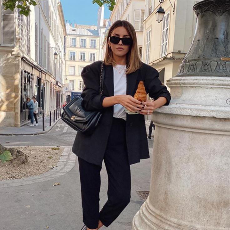 alexandra pereira traje negro look parisino
