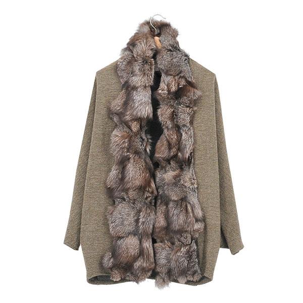 Capa tweed y piel de T.ba modelo rubens