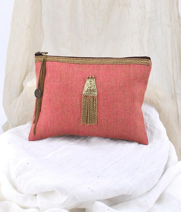 bolso color rosa