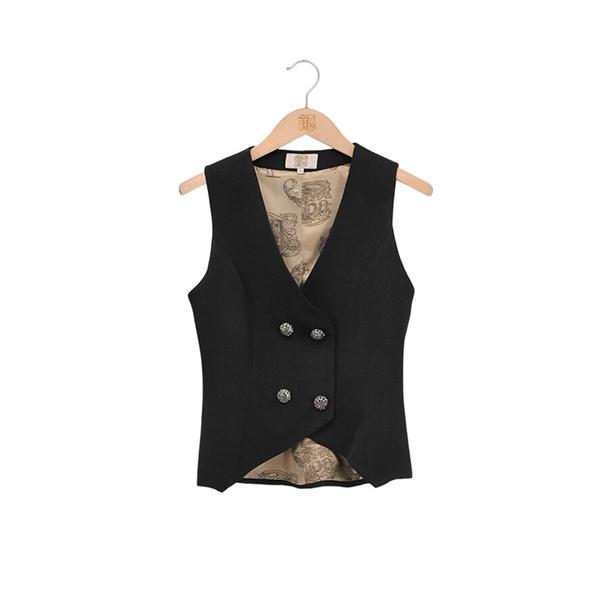 © T.ba Gypsy lux vest chaleco color negro