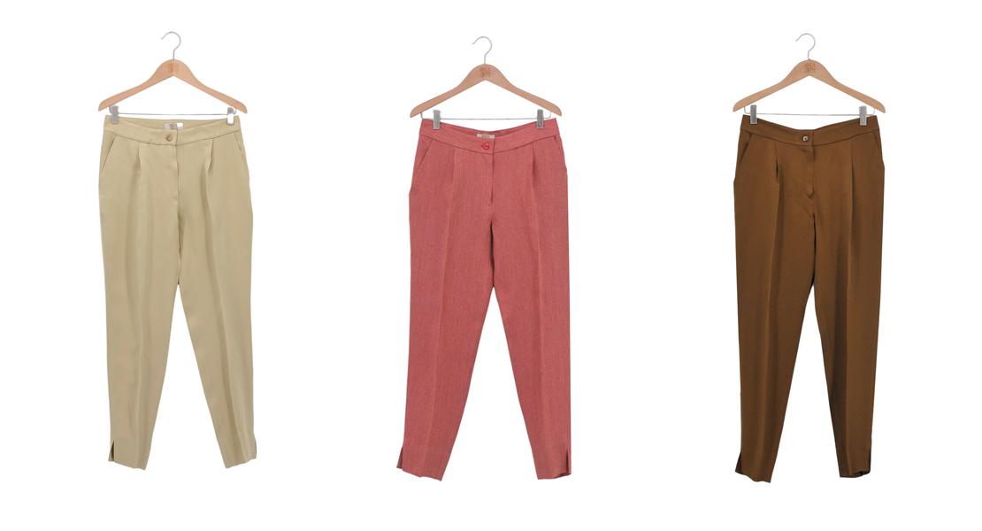 Pantalones de pinzas de T.ba