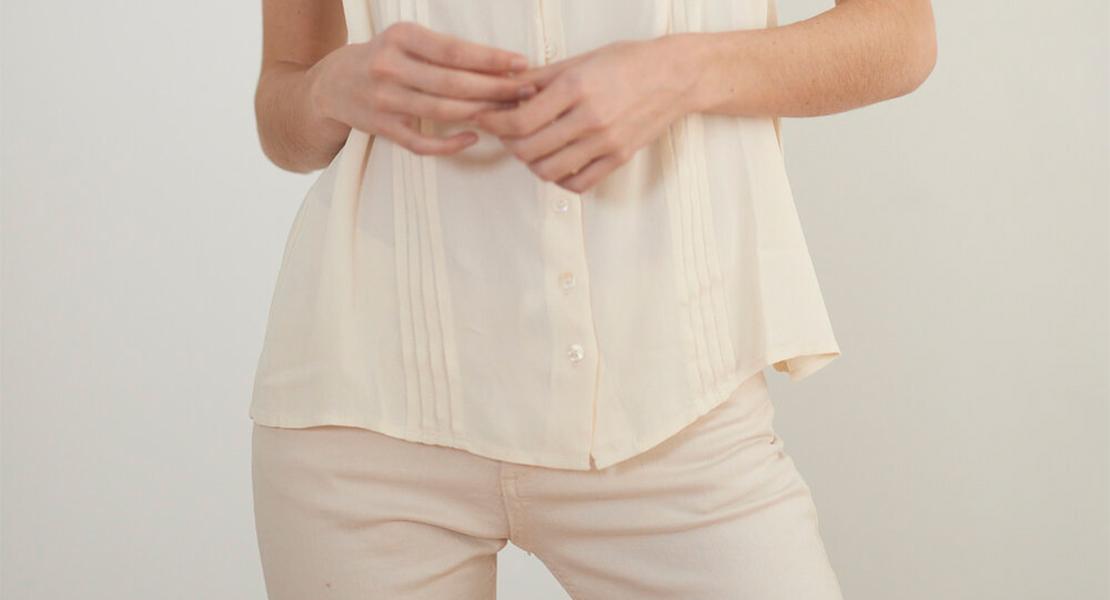 Looks con pantalón beige de T.ba