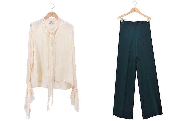 Blusa Mina y pantalón Maxi SKSW de © T.ba