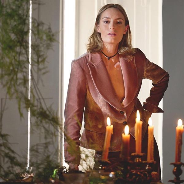 ©T.ba nueva colección chaqueta jazz terciopelo rosa