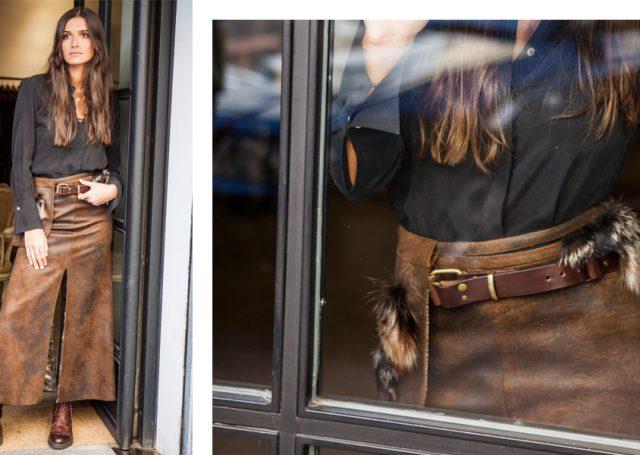Tener una falda midi marrón en tu armario te salvará tus looks de invierno