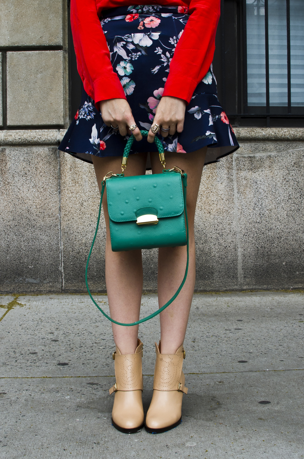 1 Emerald Green Tulip Bag