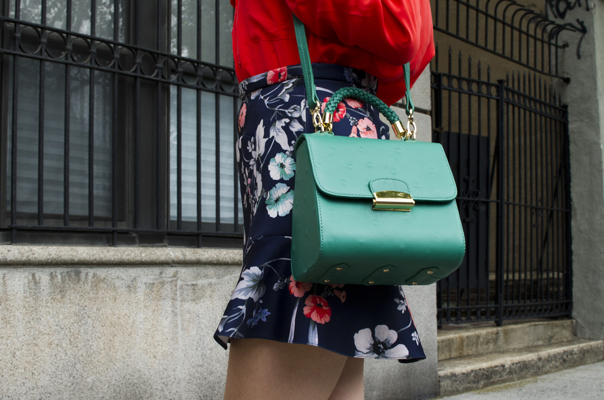 4 Emerald Green Tulip Bag - 4