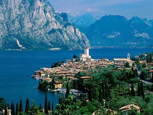 Lago de Garda en Italia