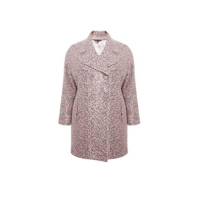 Abrigo rosa de lentejuelas