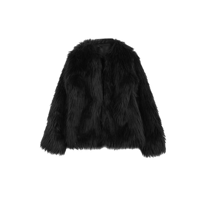 20071aed7e4 Abrigo pelo negro corto – Chaquetas de hombre y mujer 2019