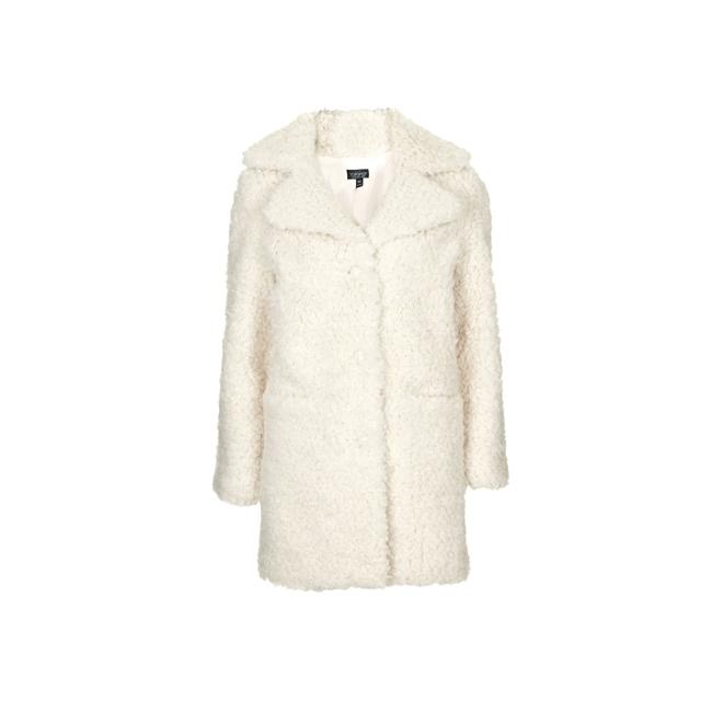 Abrigo blanco de peluche
