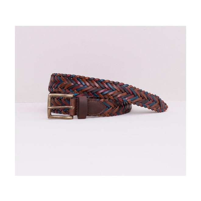 Cinturón marrón trenzado