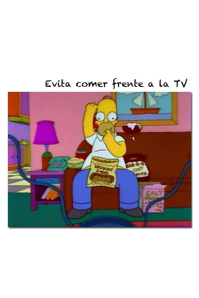 Apaga la televisión cuando comas
