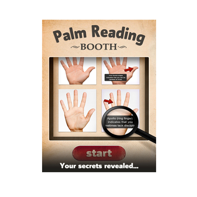 Palm reading booth