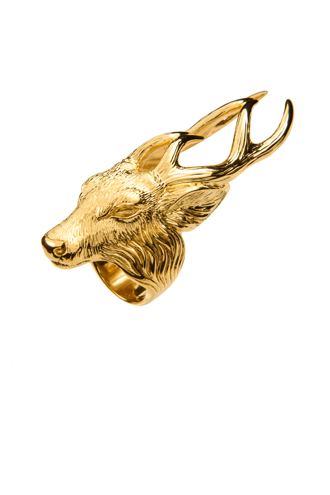 Sortija de ciervo de la casa Baratheon en oro