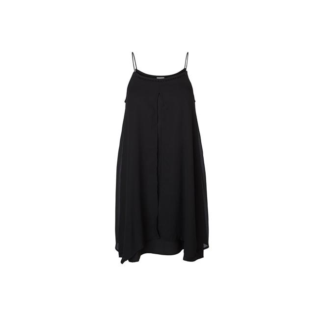 Vestido negro de tirantes