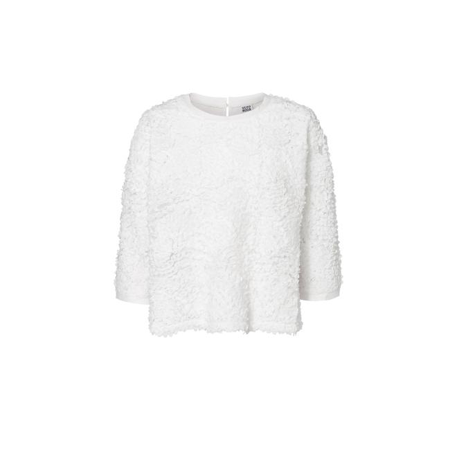 Jersey borrego blanco