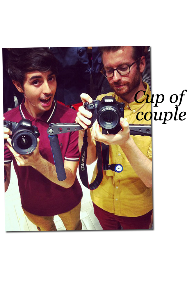Cup of couple's camera