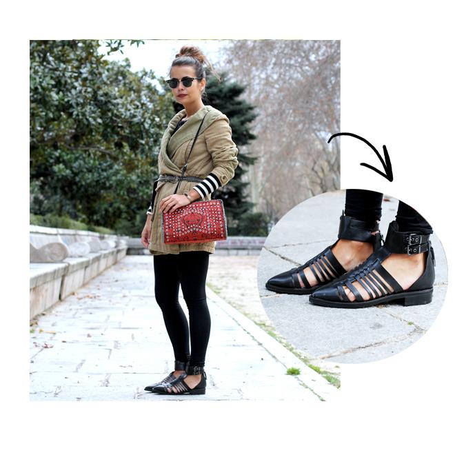 Las sandalias de Collage Vintage