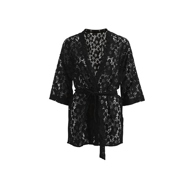 Kimono de encaje con cinturón