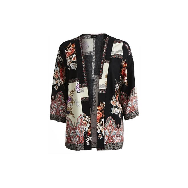 Kimono estampado patchwork