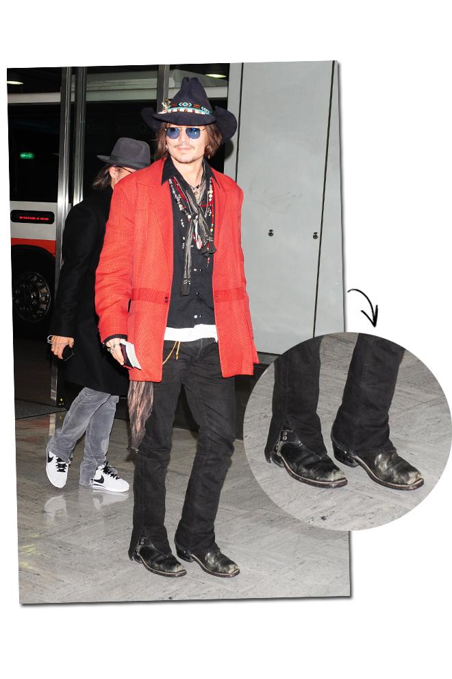 Johnny Depp desaliñado glam