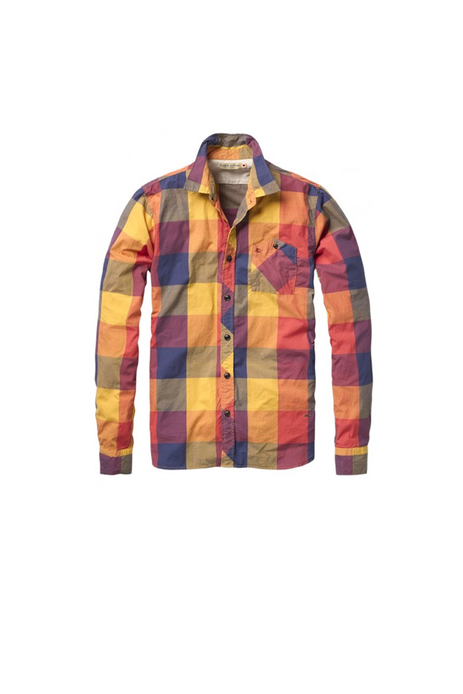 Camisa de cuadros de colores