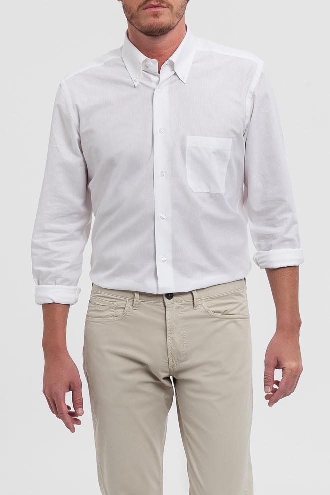 Camisa blanca con bolsillo