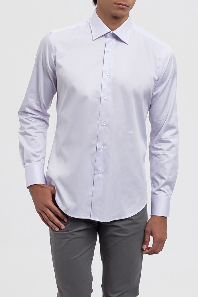 Camisa malva manga larga
