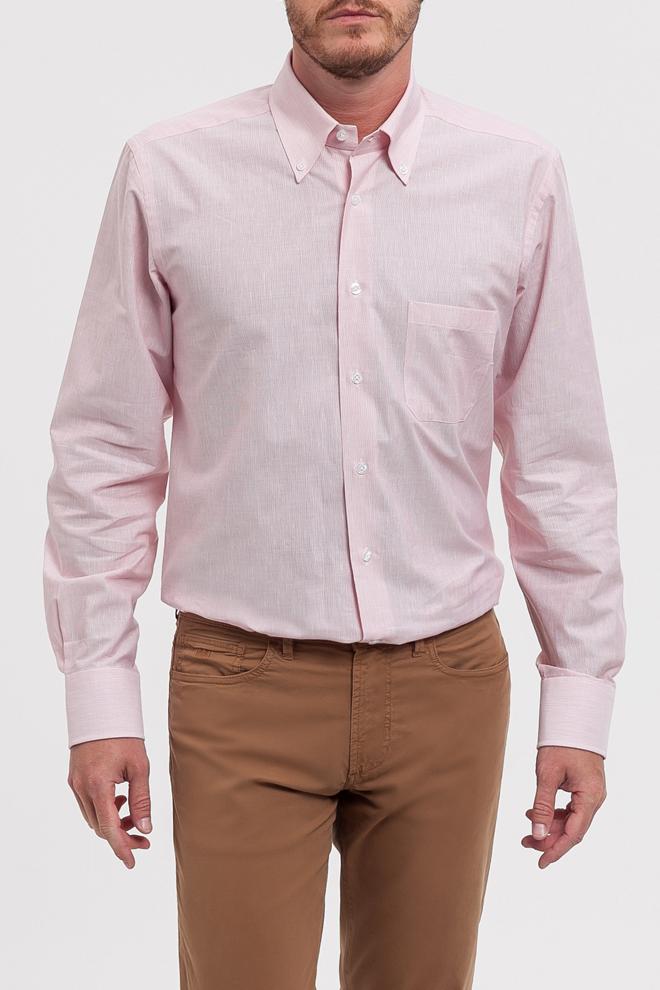 Camisa rosa manga larga