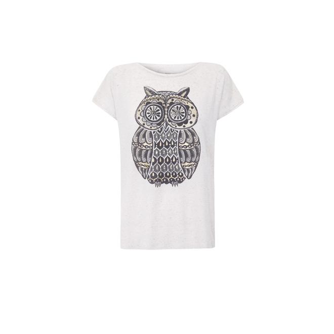 Camiseta blanca con búho