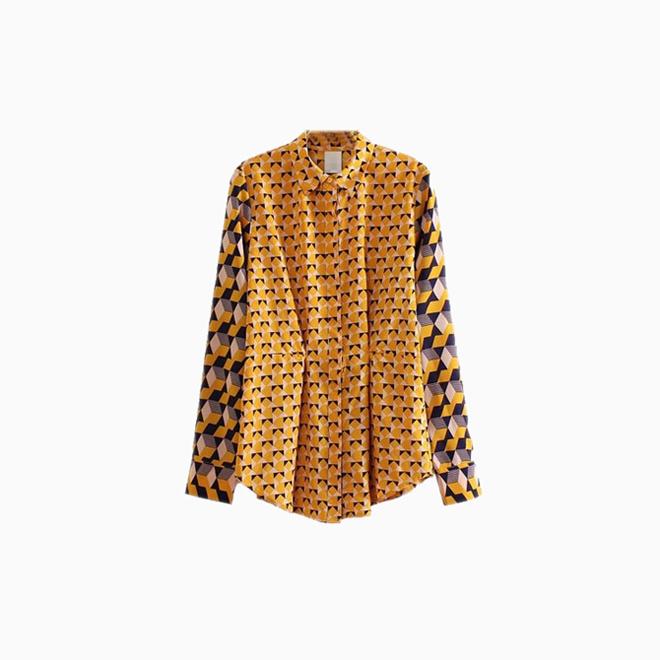 Camisa con estampado geométrico