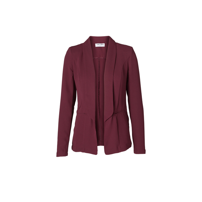 Blazer en color burgundy