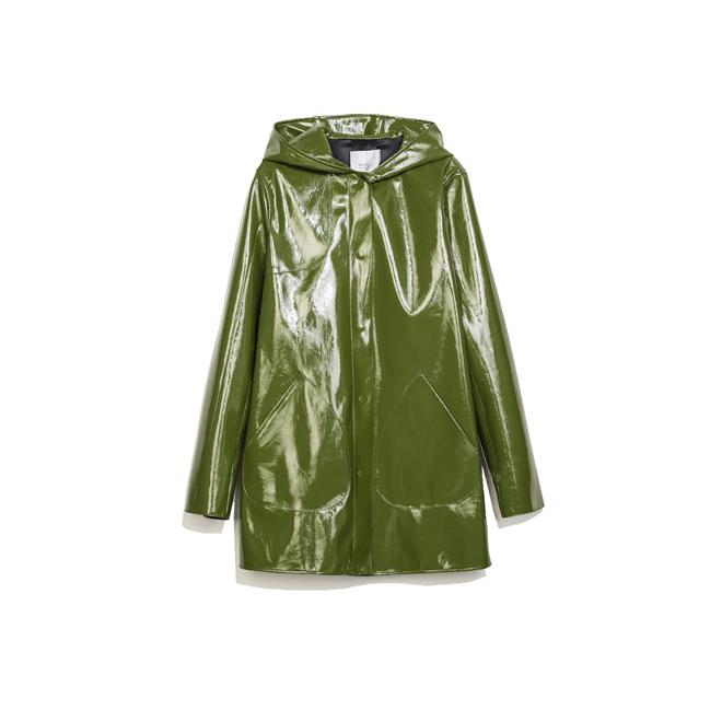 Abrigo chubasquero verde