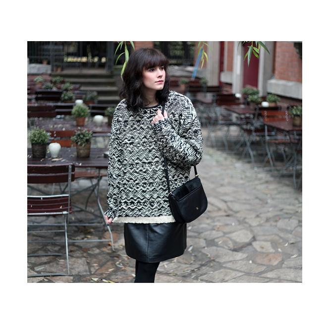 como combinar un vestido en invierno - StyleLovely 195d6421f4e3
