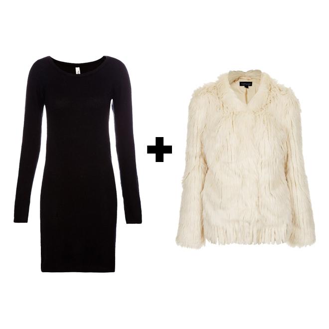 Combinar vestido negro en invierno