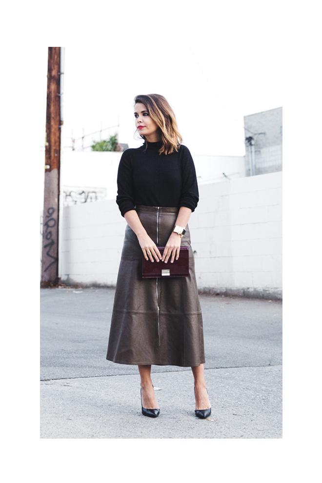 d0caf380a Cómo llevar faldas midi - StyleLovely
