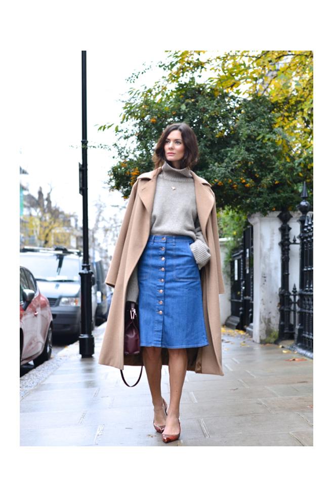 fd46b359018 Cómo llevar faldas midi - StyleLovely