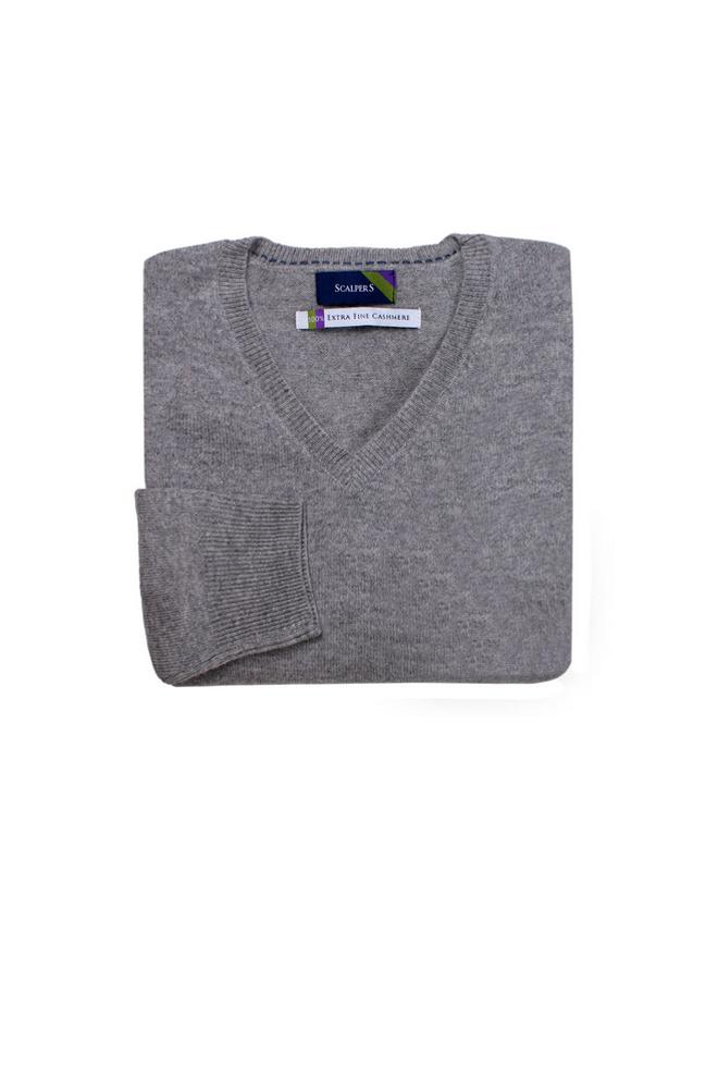 Jersey gris de cashmere