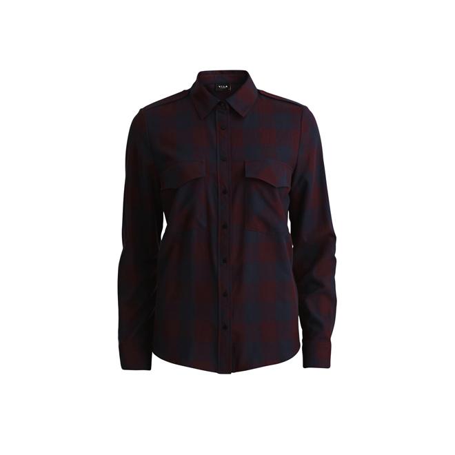 Camisa de cuadros de algodón