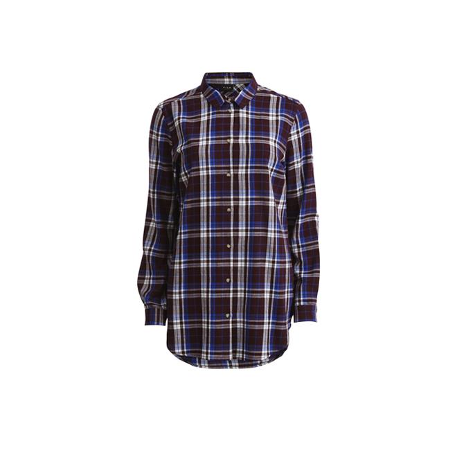 Camisa tartán larga