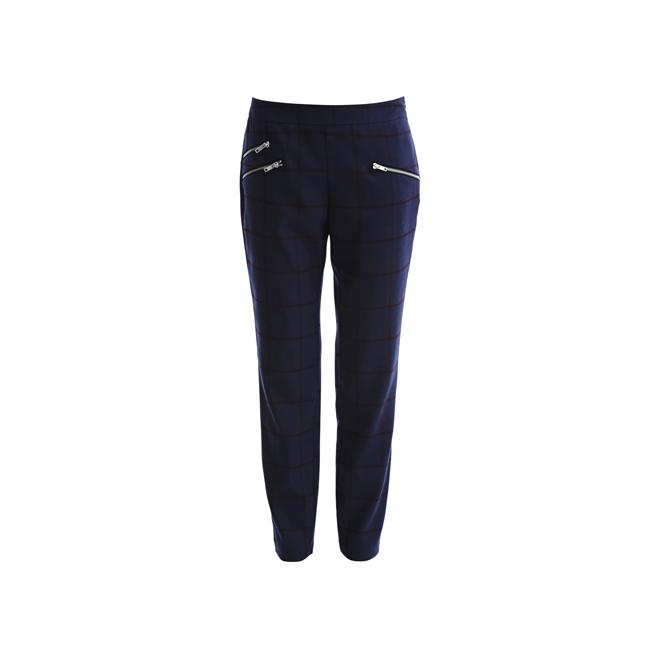 Pantalones azules de cuadros