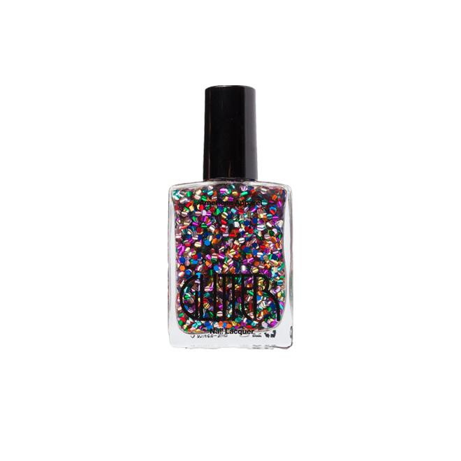 Esmalte de uñas con glitter