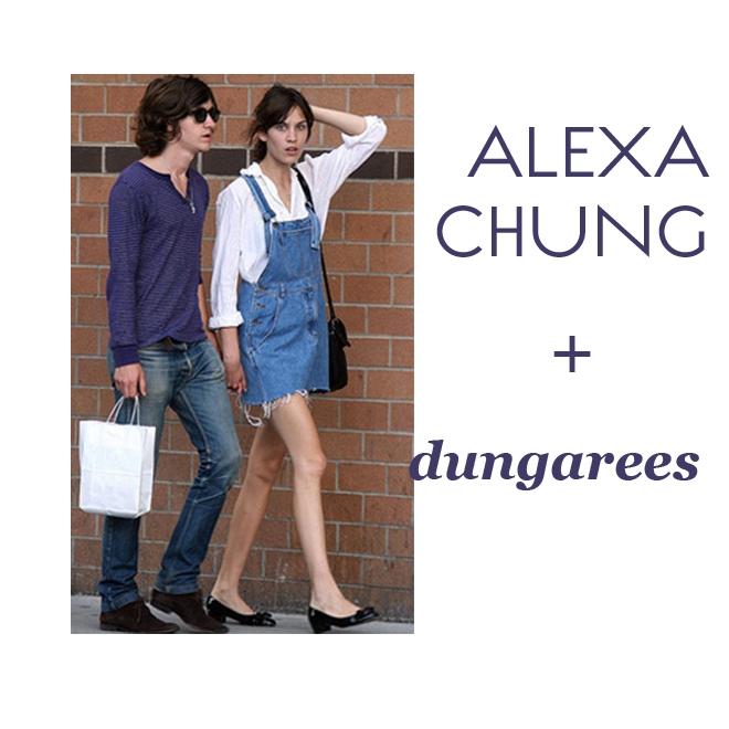 Alexa Chung & dungarees