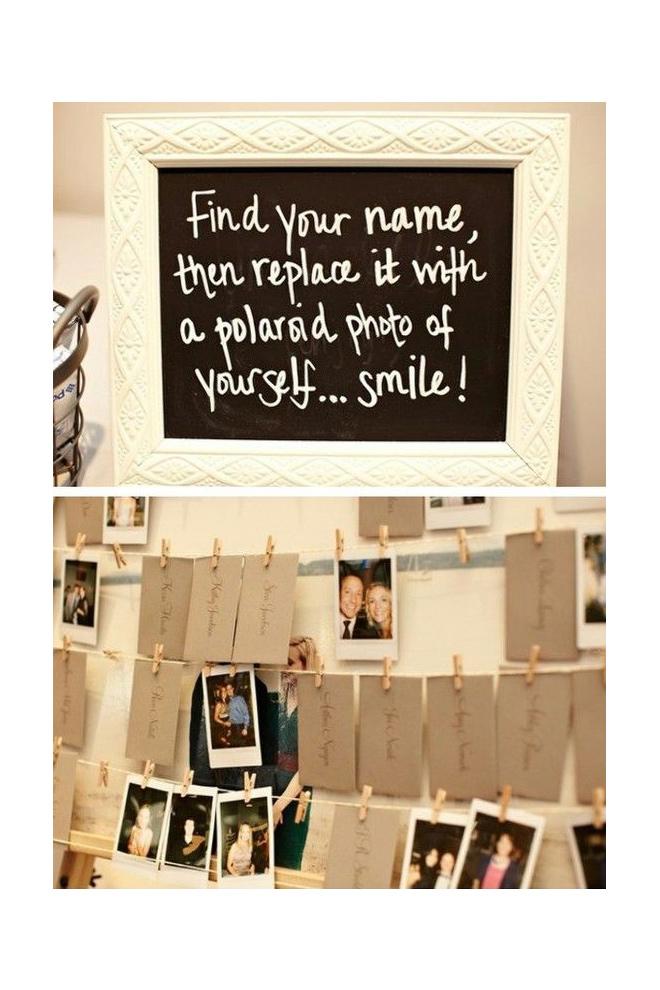 Polaroids de los invitados