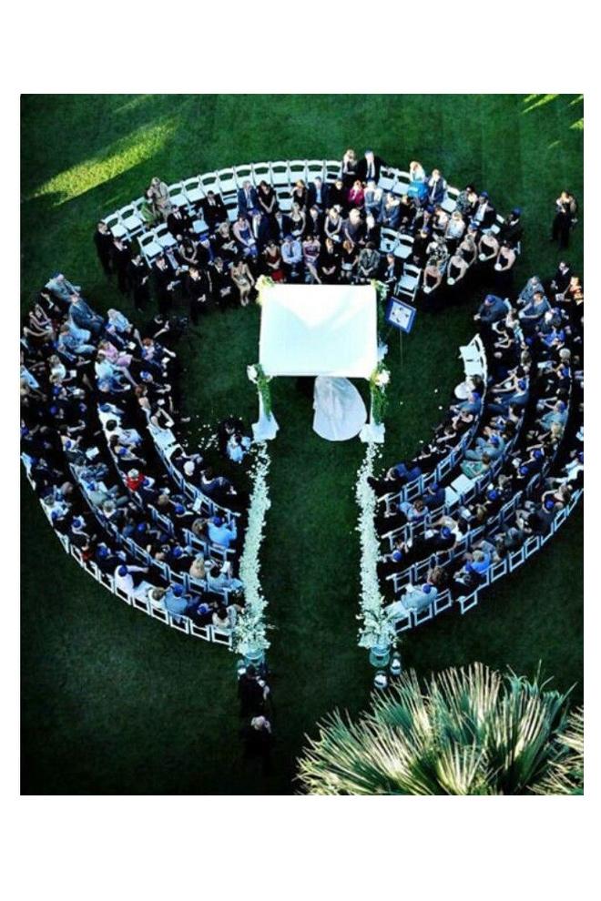 Sentar a los invitados en círculo