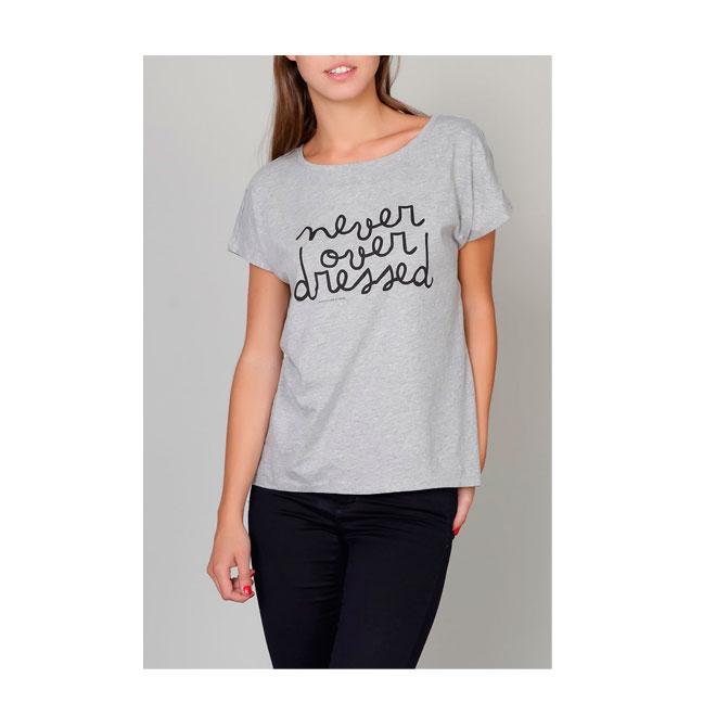 Camiseta oversize gris